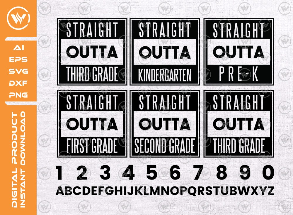 Straight Outta SVG   Straight Outta Typography