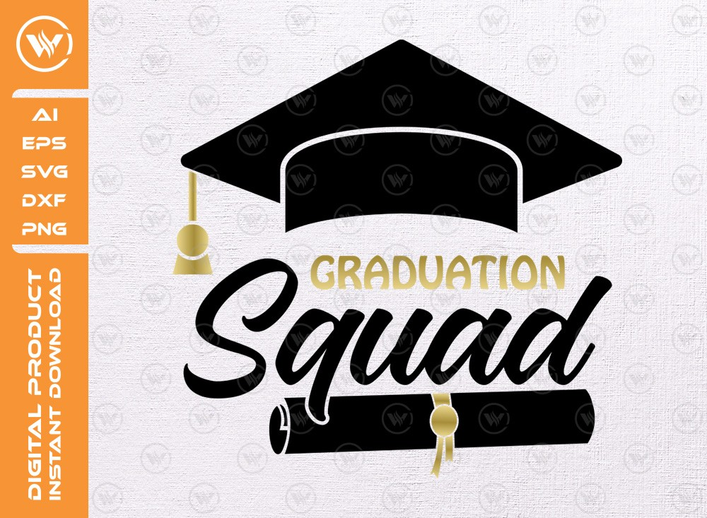 Graduation Squad SVG | Graduation t-shirt svg