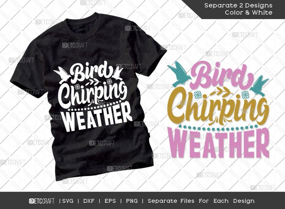 Bird Chirping Weather Svg | Hello Spring Svg