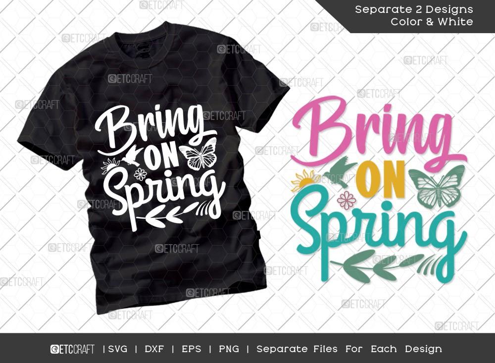 Bring On Spring SVG Cut File | Hello Spring Svg