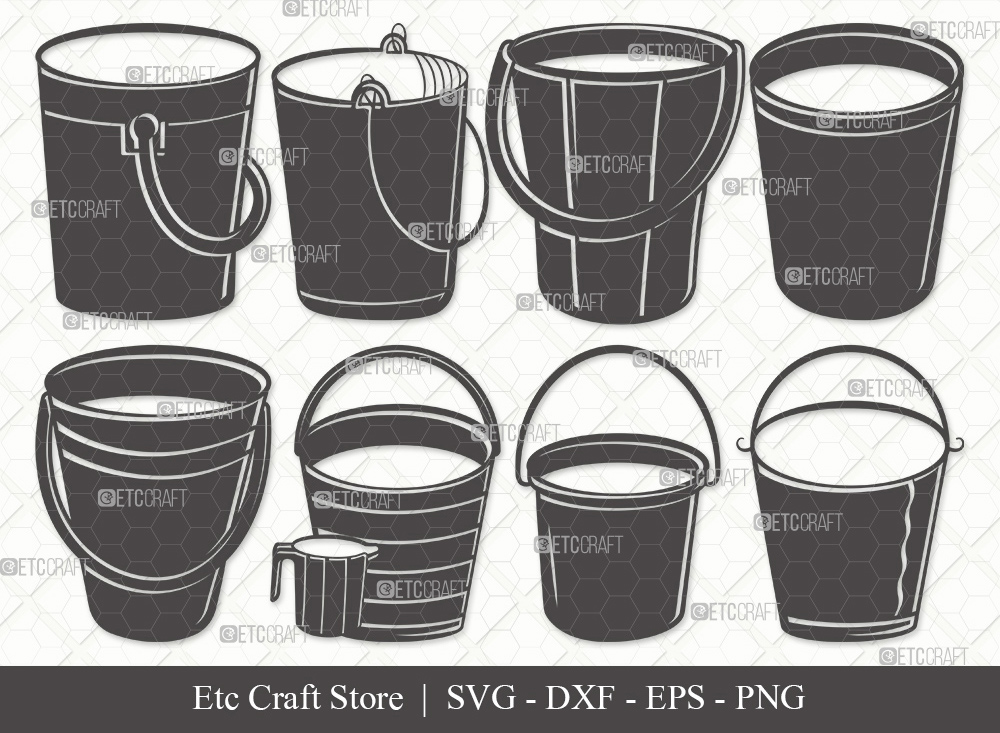 Bucket Silhouette SVG Cut File | Cleaning Svg