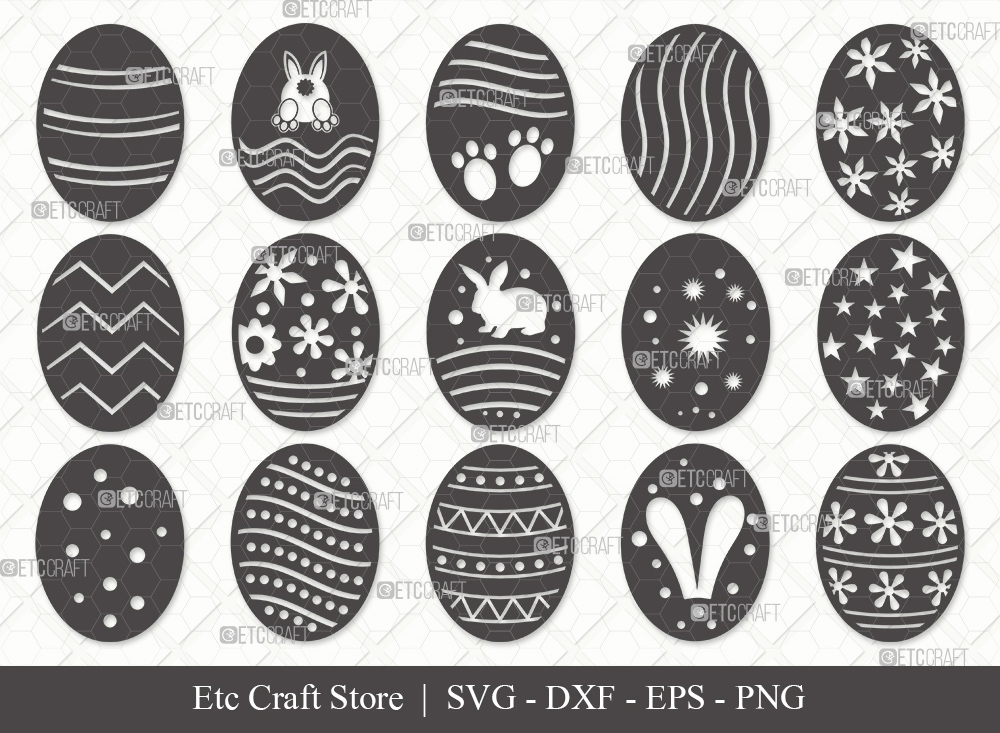 Easter Egg Silhouette SVG Cut File | Easter Svg