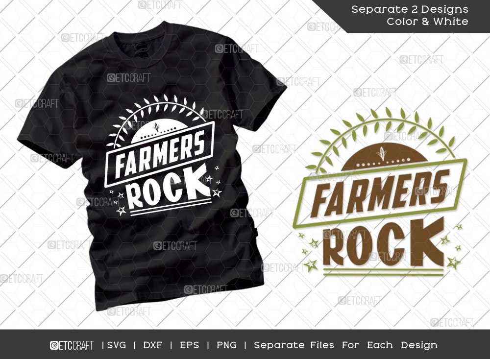 Farmers Rock SVG Cut File | Farmer Svg