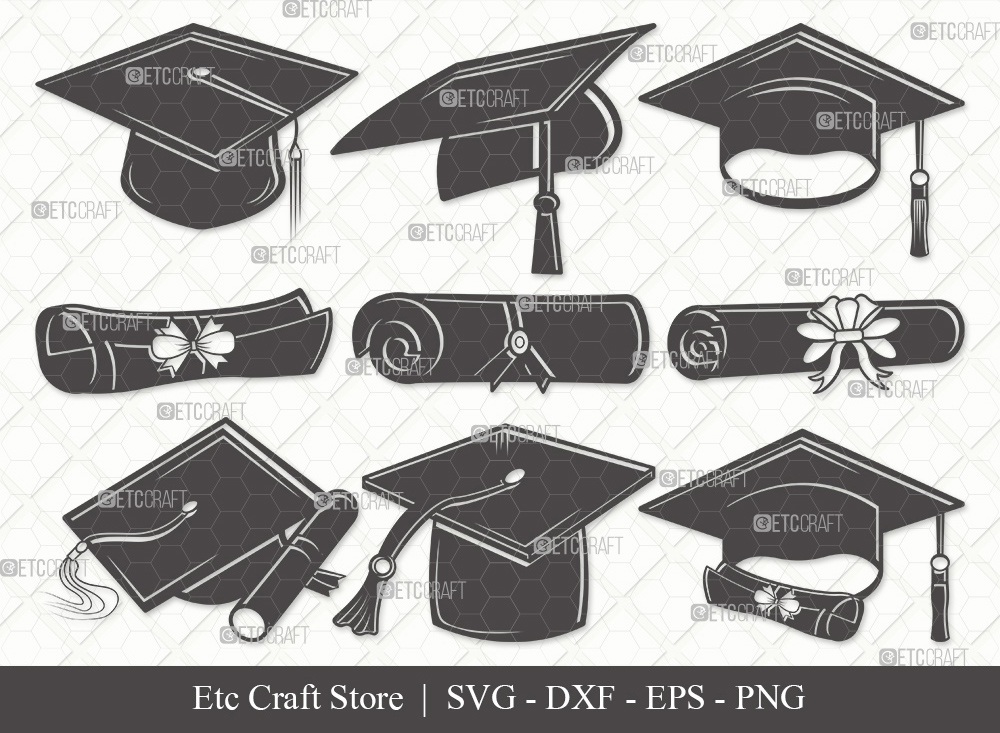 Graduation Cap Silhouette SVG | Graduation Svg