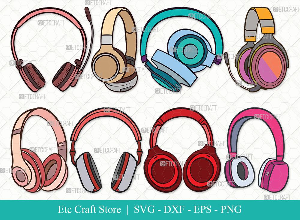 Headphone Clipart SVG | Audio Headset Svg