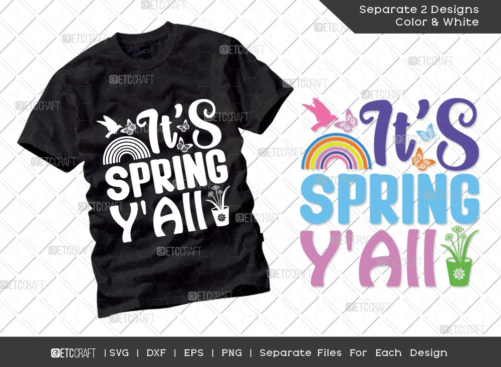 Its Spring YAll Svg Cut File | Hello Spring Svg