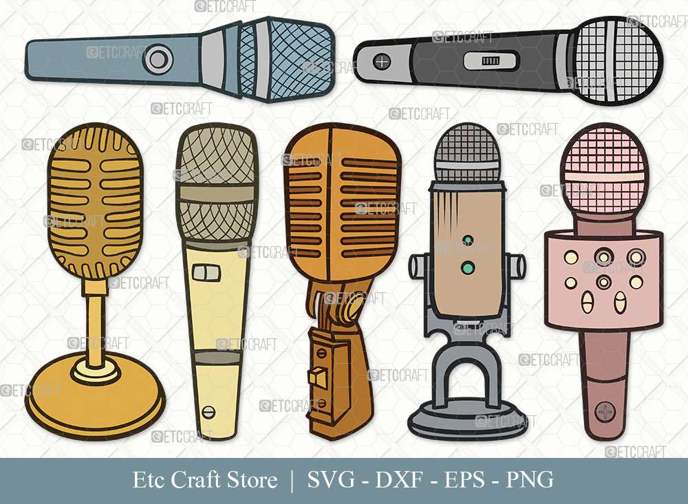 Microphone Clipart SVG | Sound Recording Svg