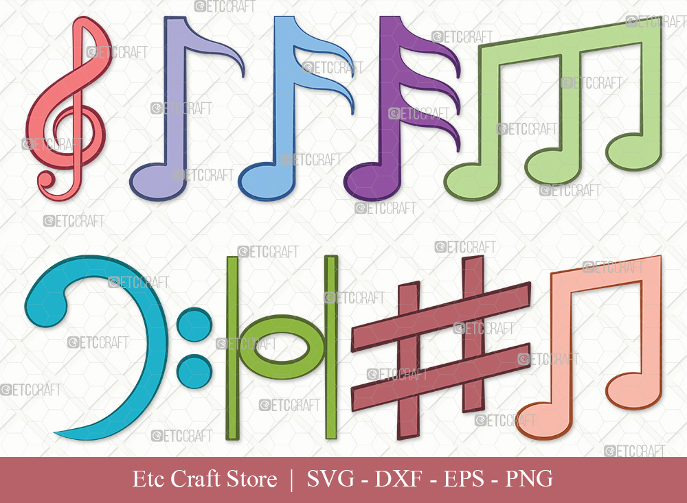 Music Notes Clipart SVG Cut File | Music Svg