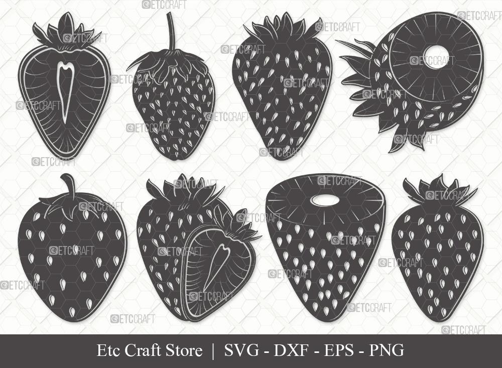 Strawberry Silhouette SVG Cut File | Fruit Svg