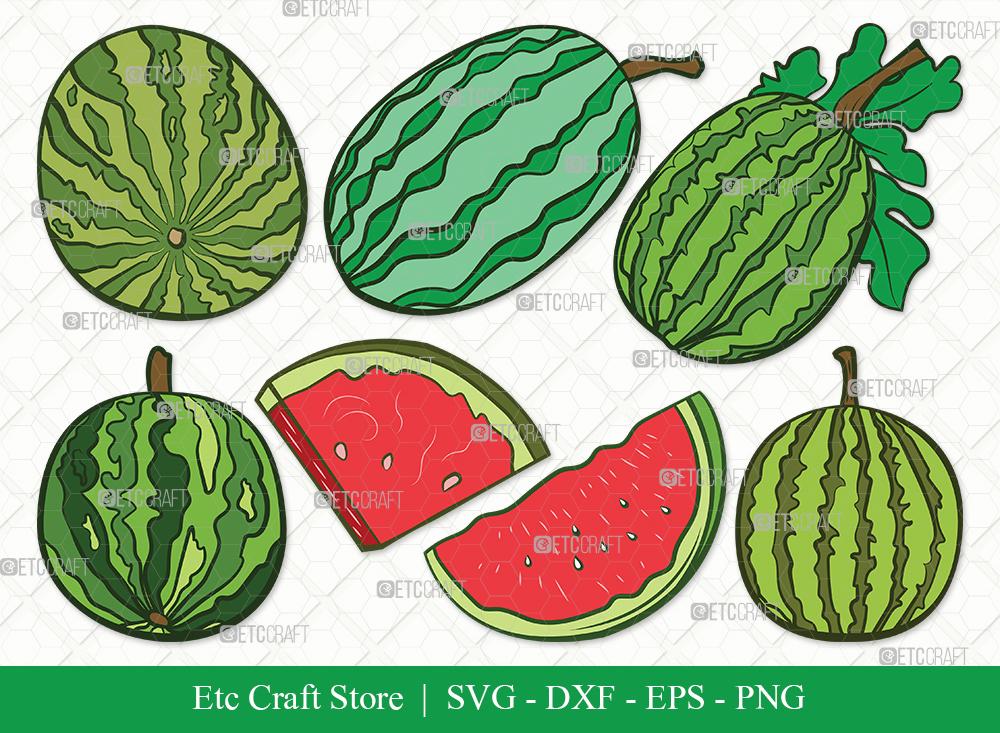 Watermelon Clipart SVG Cut File | Fruit Svg