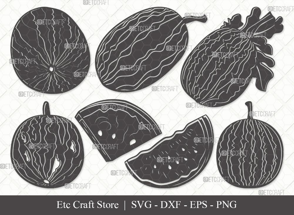 Watermelon Silhouette SVG Cut File | Fruit Svg