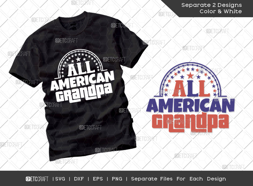 All American Grandpa SVG   Independence Day Svg