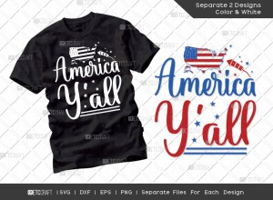 America Yall SVG Cut File | Independence Day Svg