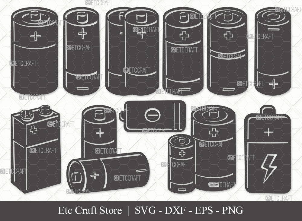 Battery Silhouette SVG Cut File | Battery Svg