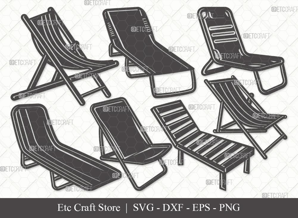 Beach Chair Silhouette SVG | Beach Chair Svg