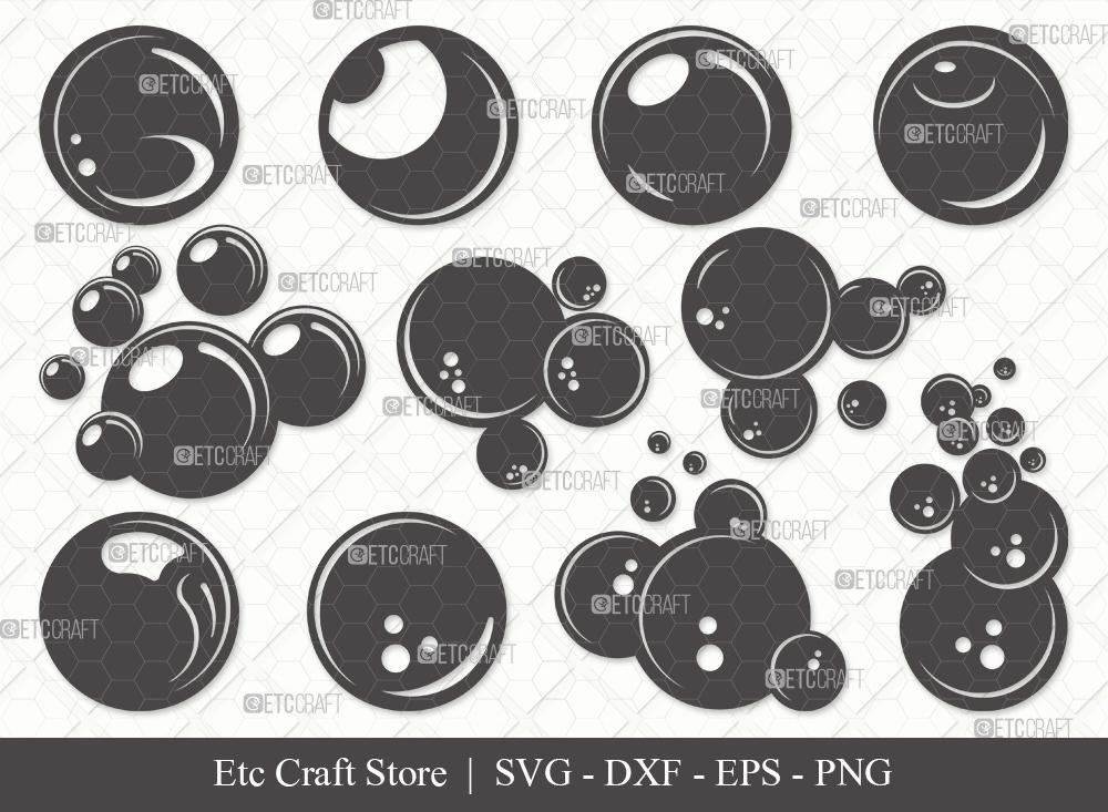 Bubbles Silhouette SVG | Water Bubbles SVG