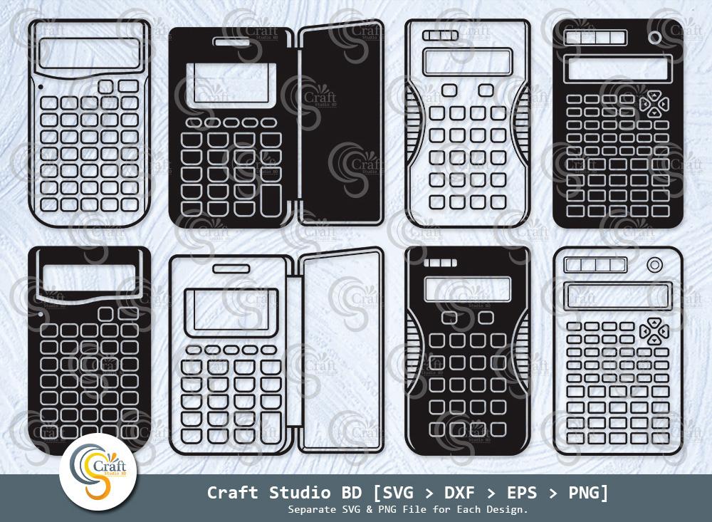 Calculator Silhouette, Education Svg, School Svg