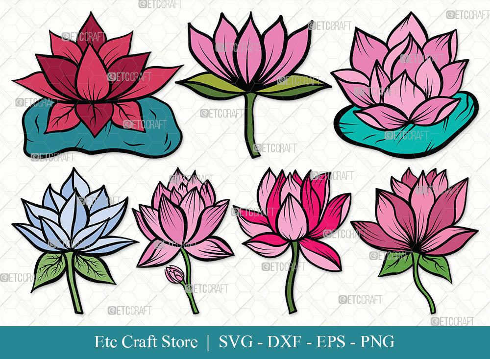 Lotus Flower Clipart SVG | Lotus Flower SVG Bundle
