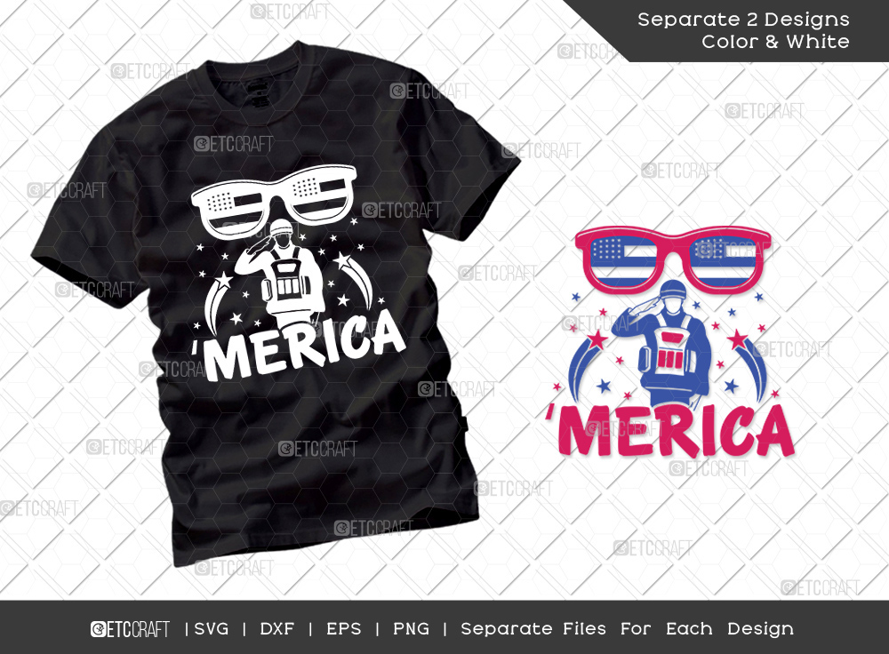 Merica SVG Cut File | Independence Day Svg