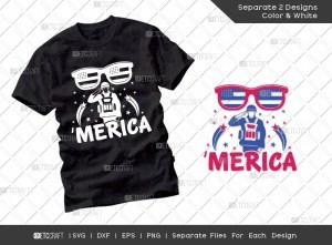 Merica SVG Cut File | Independence Day Svg