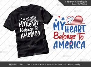 My Heart Belongs To America SVG | Patriotic Svg