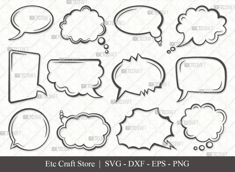 Speech Bubbles Outline SVG | Talk Bubble Svg