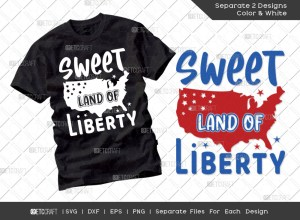 Sweet Land Of Liberty SVG | Independence Day