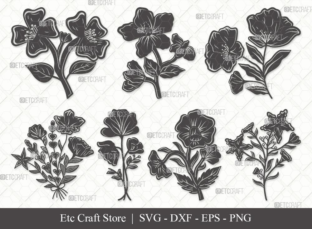 Wild Flower Silhouette SVG | Wild Flower SVG