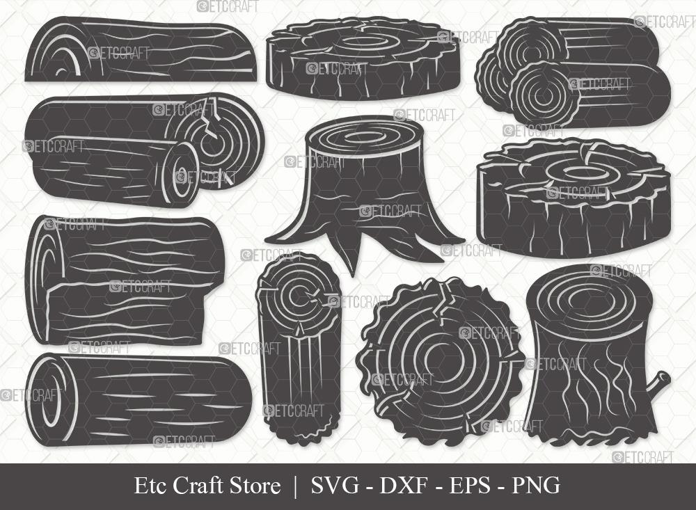 Wood Log Silhouette SVG | Wood Svg | Tree Log