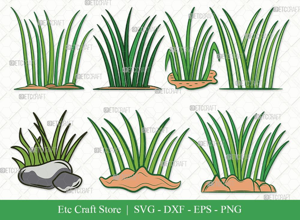 Grass Clipart SVG | Plants | Grass SVG Bundle