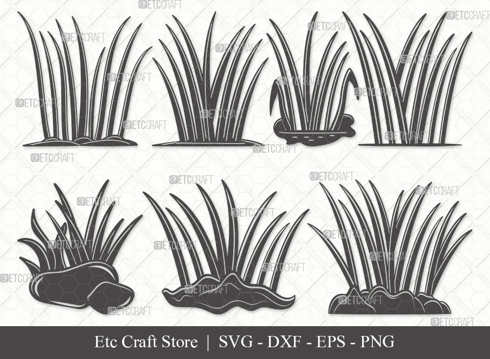 Grass Silhouette | Plants | Grass SVG Bundle
