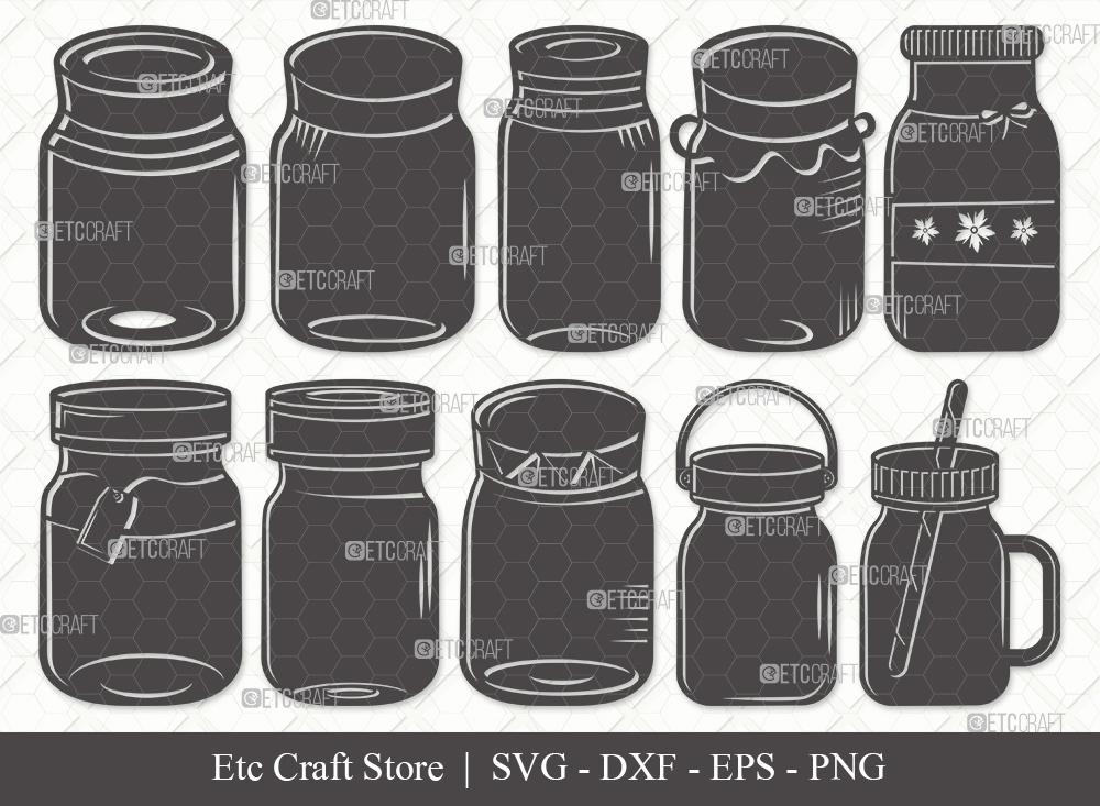 Mason Jars Silhouette | Mason Jar SVG Bundle