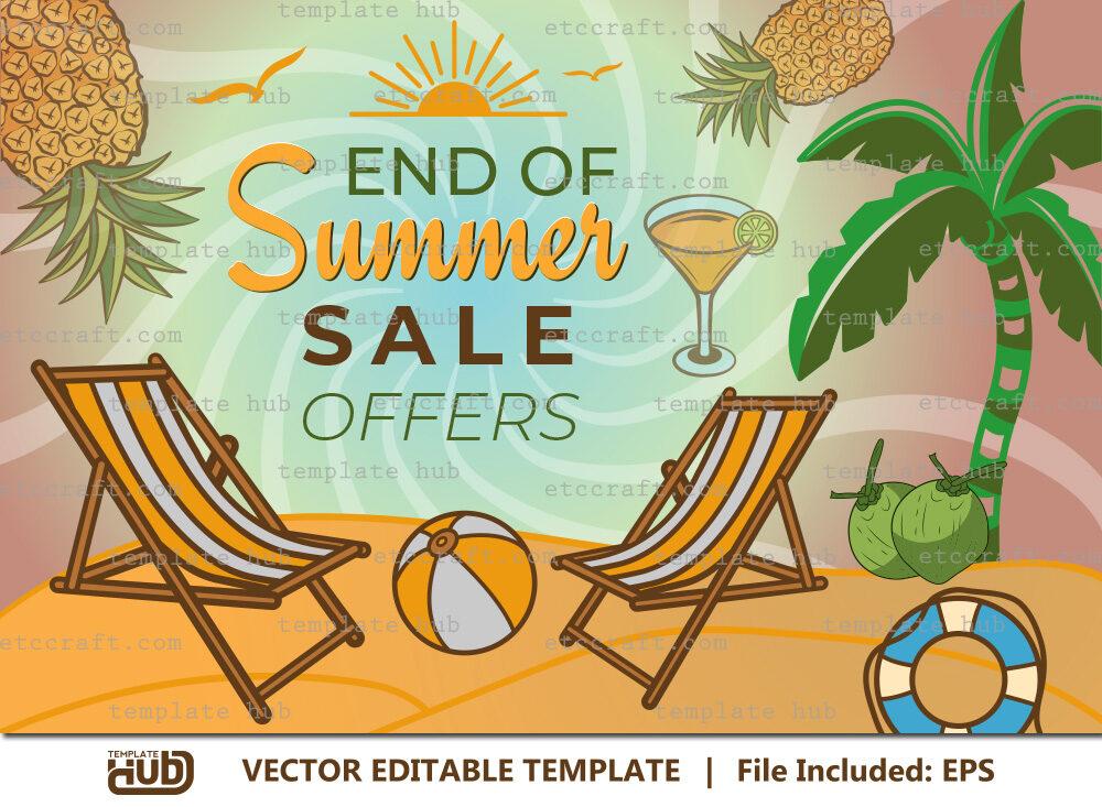 End Of Summer Sale Offers, Summer Banner