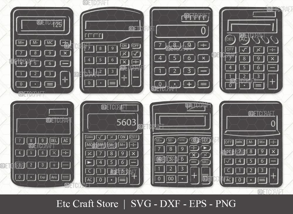 Calculator Silhouette | Calculator SVG Bundle