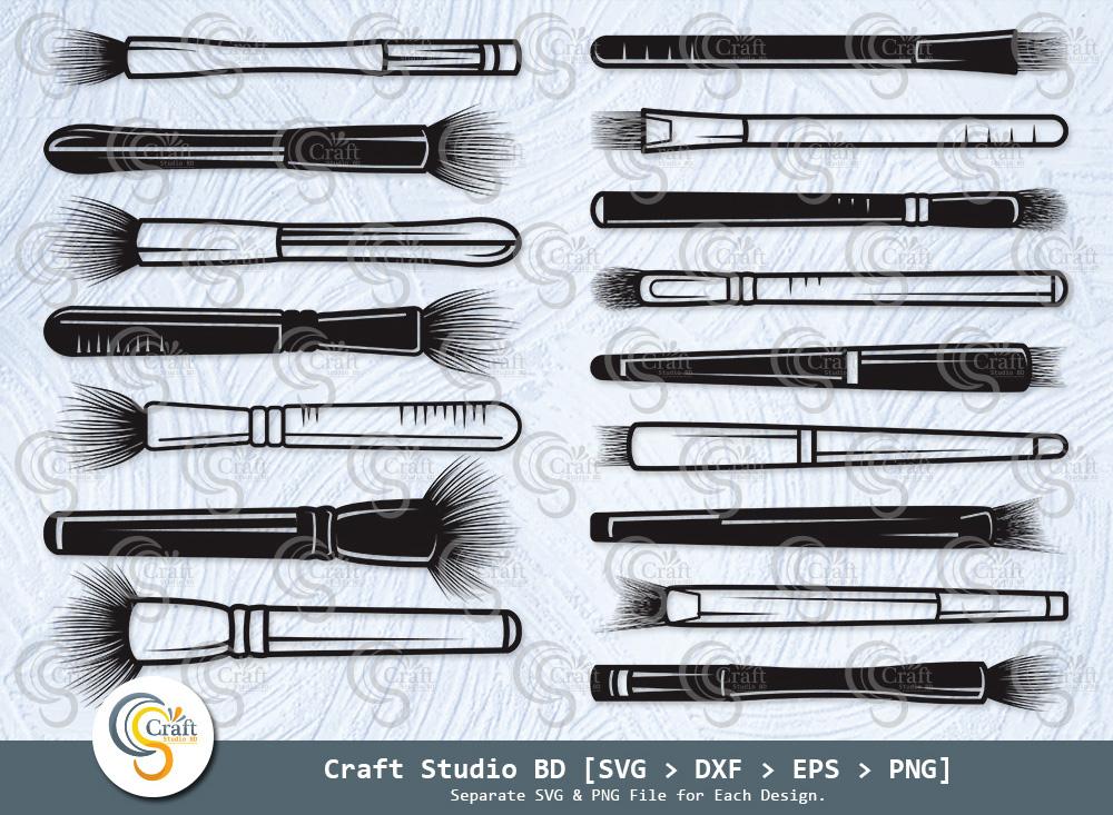 Makeup Brush Silhouette, Cosmetic Brush SVG