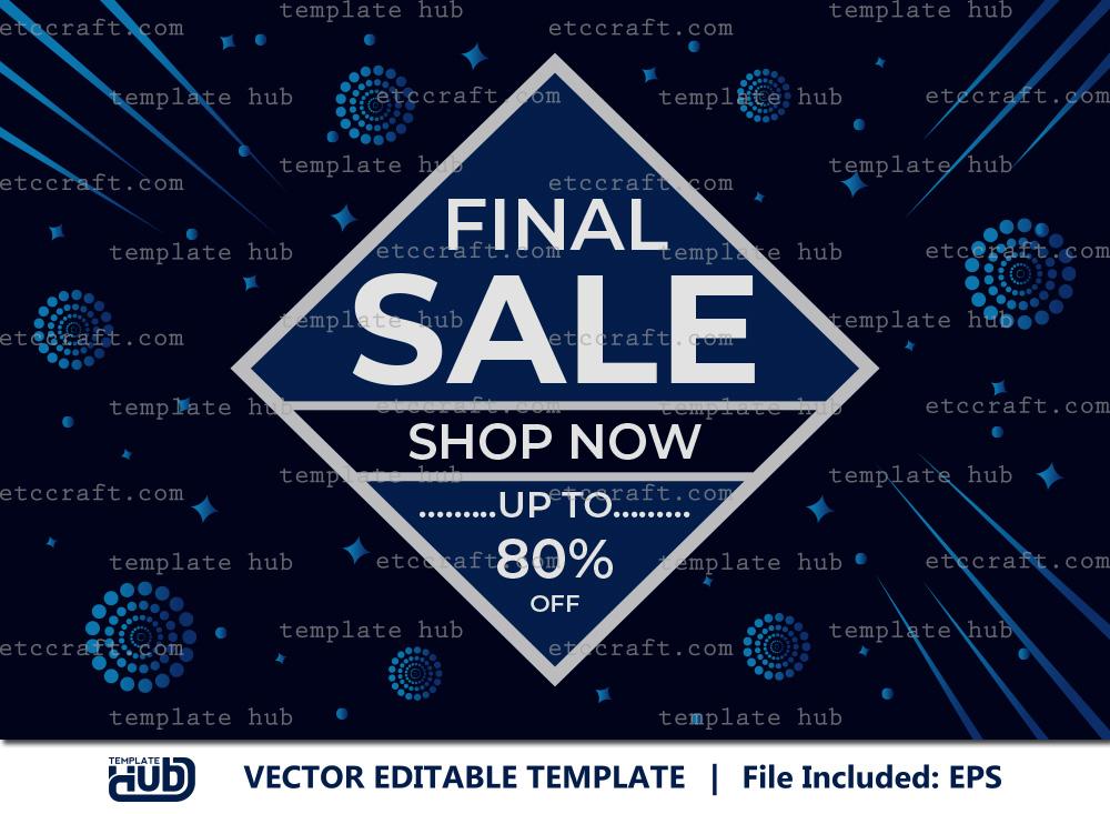 Final Sale Offer Banner, Sale Background