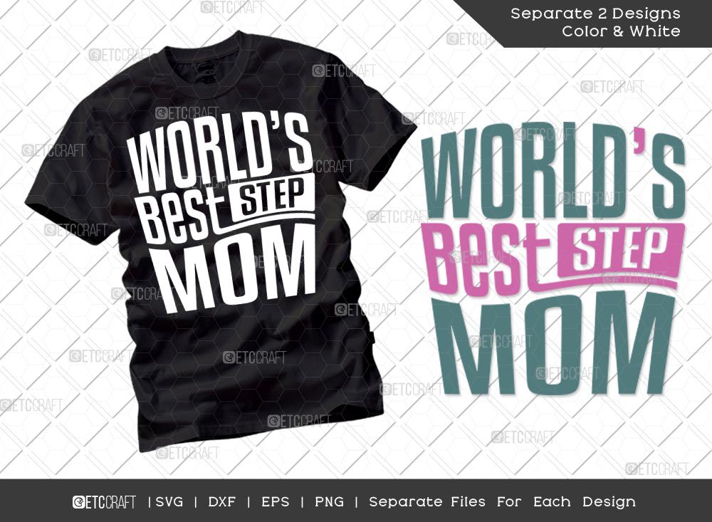 World's Best Stepmom SVG Cut File | Mom Shirt