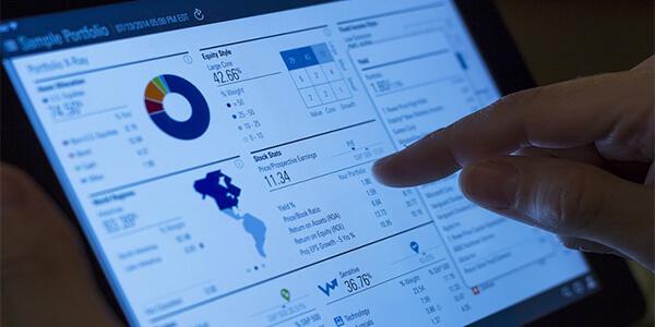 financial service website design company