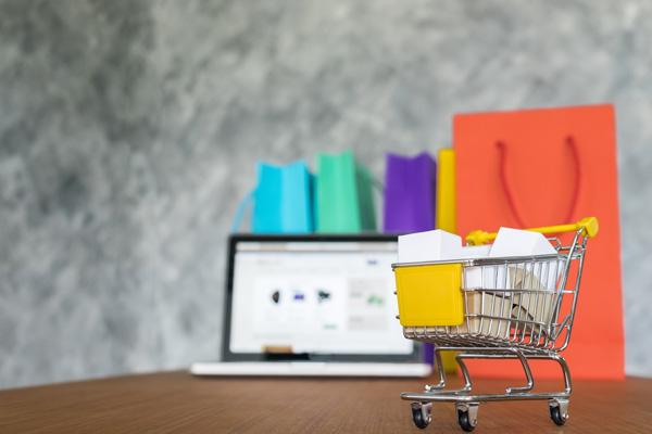 online shopping concept ecommerce website
