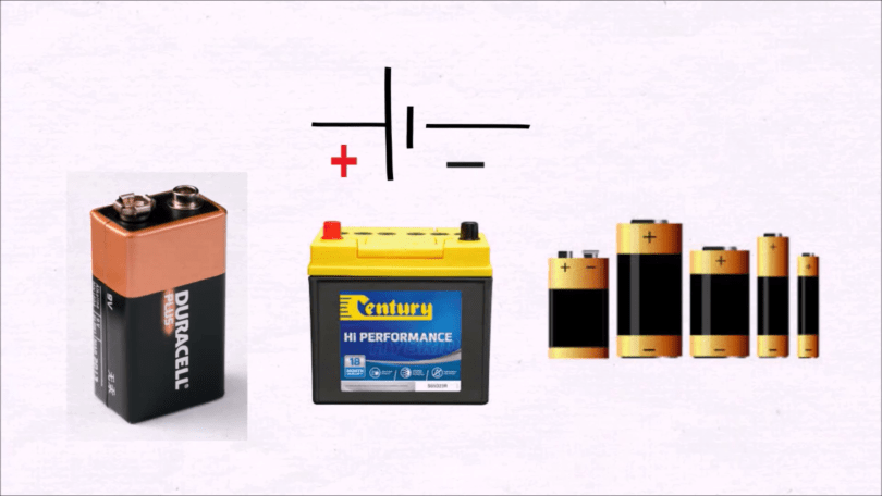 Different types of batteries