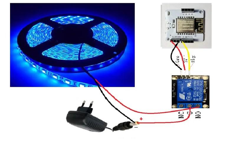 Circuit Diagram for LED Strip Control
