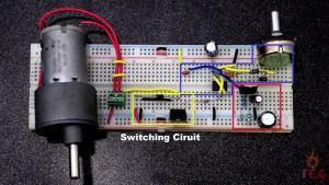 Switching Circuit of Dc Motor Speed Controller