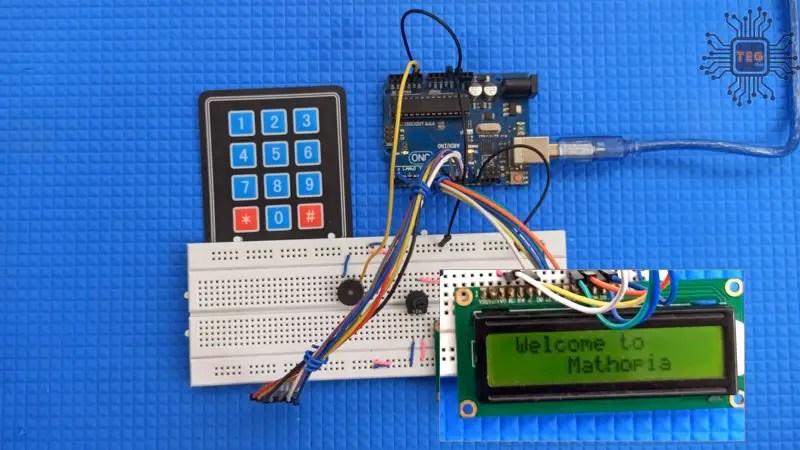LCD-Keypad math game