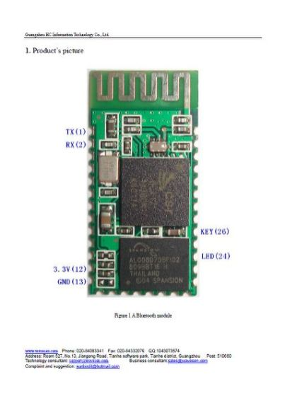 HC-06 Datasheet (Page 1)