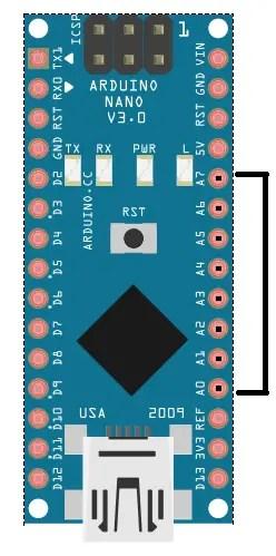 Analog Pins on Arduino Nano