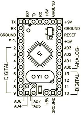 Arduino Pro Mini 03 pinout
