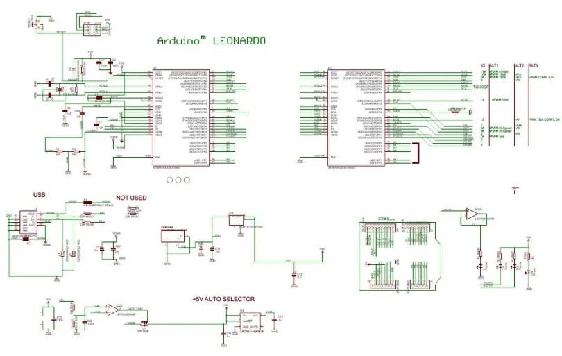 Arduino Leonardo Schematic