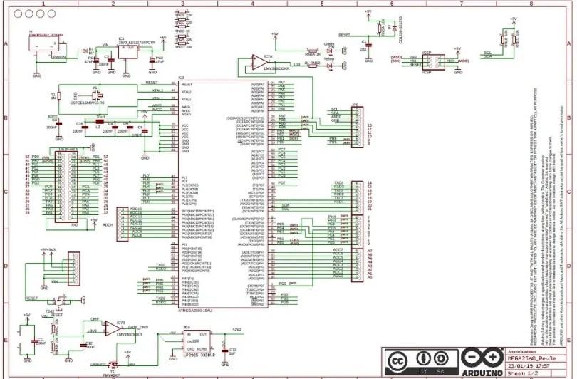 Page 1 (Arduino Mega Schematic)
