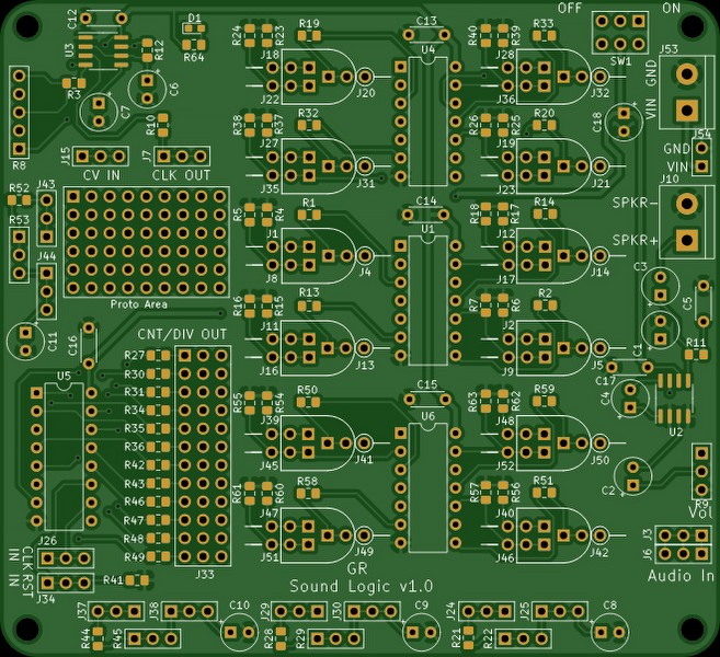 PCB designed in KiCAD
