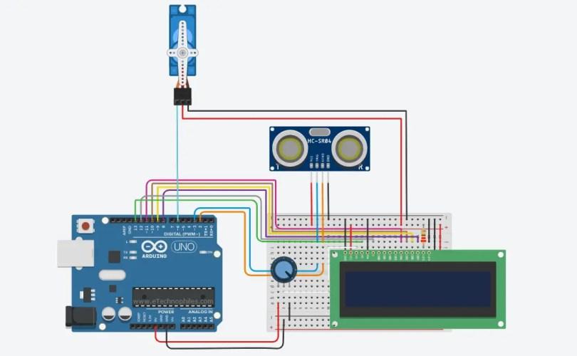 Servoangle control using Ultrasonic sensor